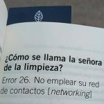 26. No emplear su red de contactos [networking]