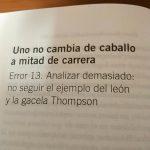 13. Analizar demasiado no seguir el ejemplo del león y la gacela Thompson