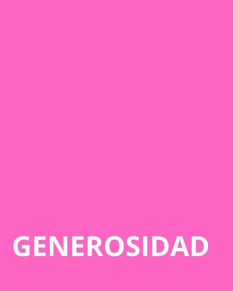 Generosidad Color